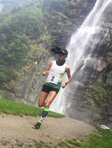 Ivana Iozzia mentre si allena in montagna.