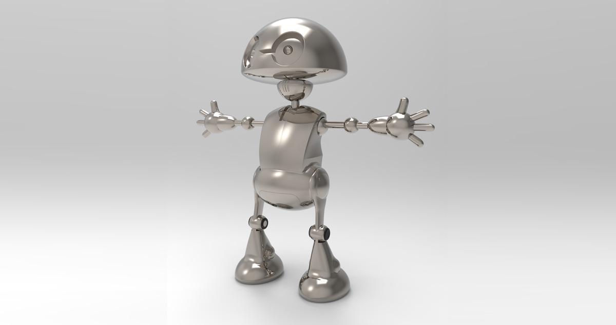 Il corso di Keyshot: un simpatico robot.