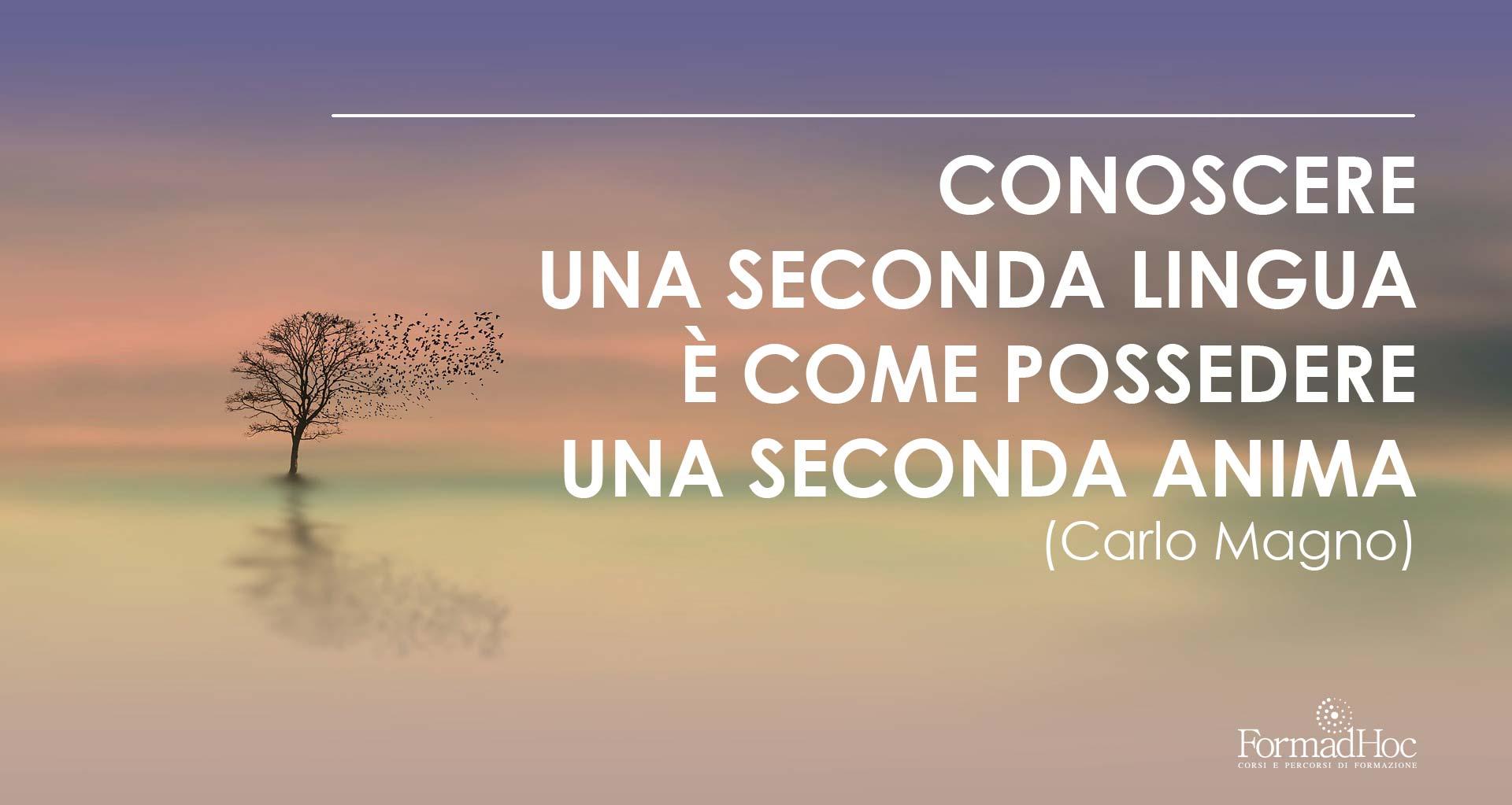 Conoscere una seconda lingua è come possedere una seconda anima (Carlo Magno).